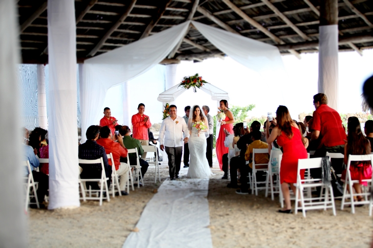 Beach ceremony at Old Belize