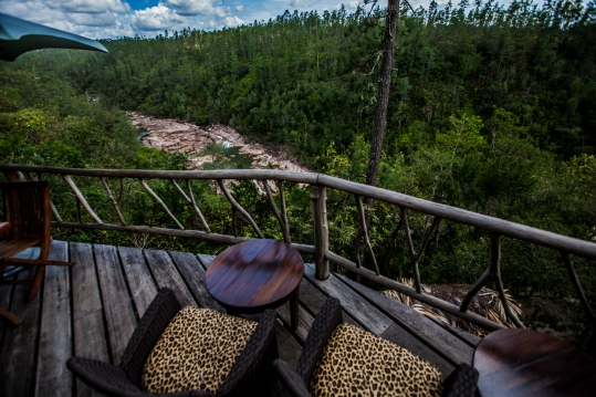 View from deck at Gaiia Riverlodge